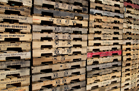 Photo of the Cultured Pallets series by artist Soheila Esfahani