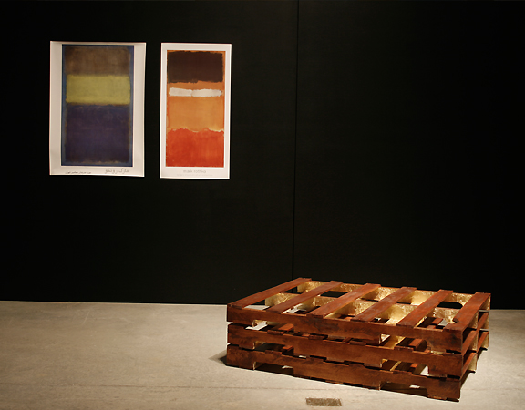 Photo of work from the Trans Series by artist Soheila Esfahani