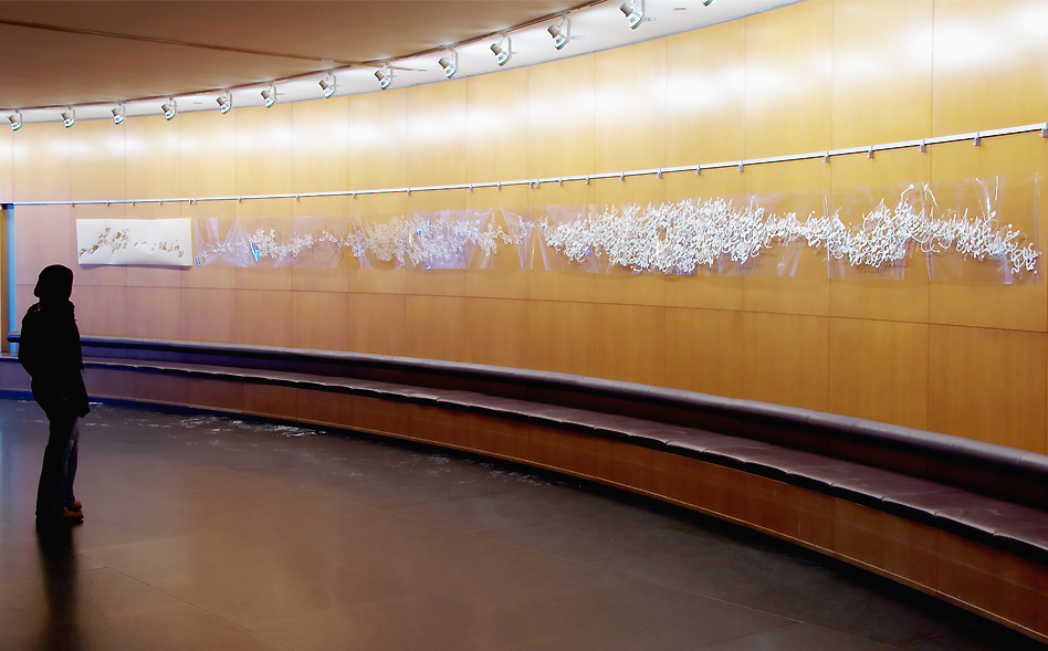 Installation at Kitchener City Hall by artist Soheila Esfahani